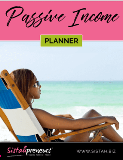 Black women entrepreneur passive income tools-planner