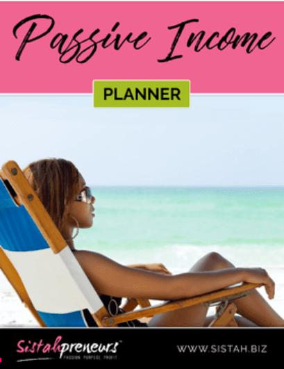 Black women entrepreneur passive income tools-planner