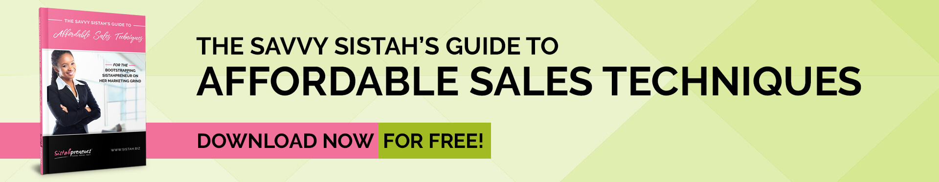 Get The Savvy Sistah's Guide to Affordable Sales Techniques