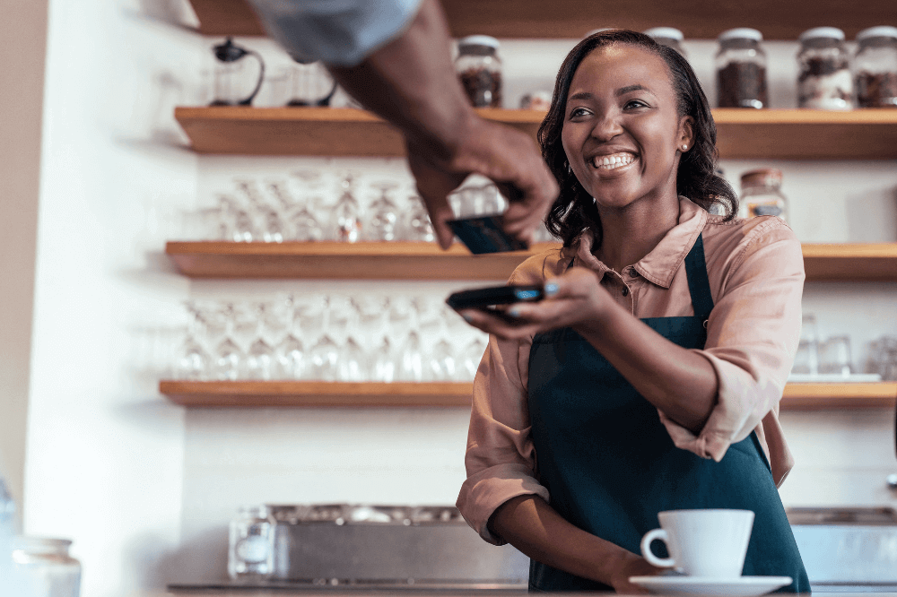 Black Woman Business Owner Serving
