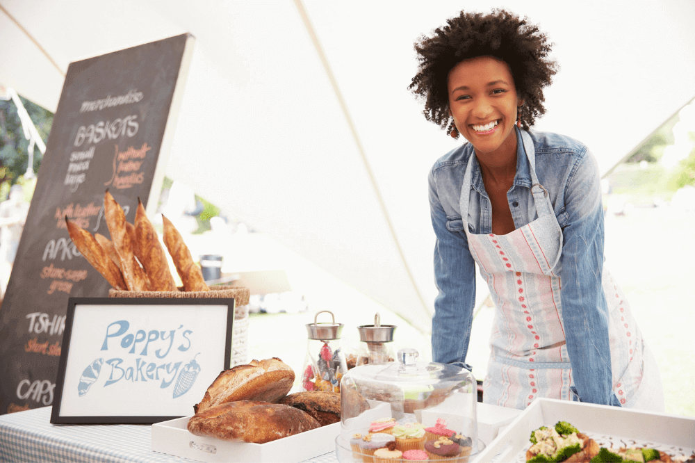 Black Woman Entrepreneur Farmers Market