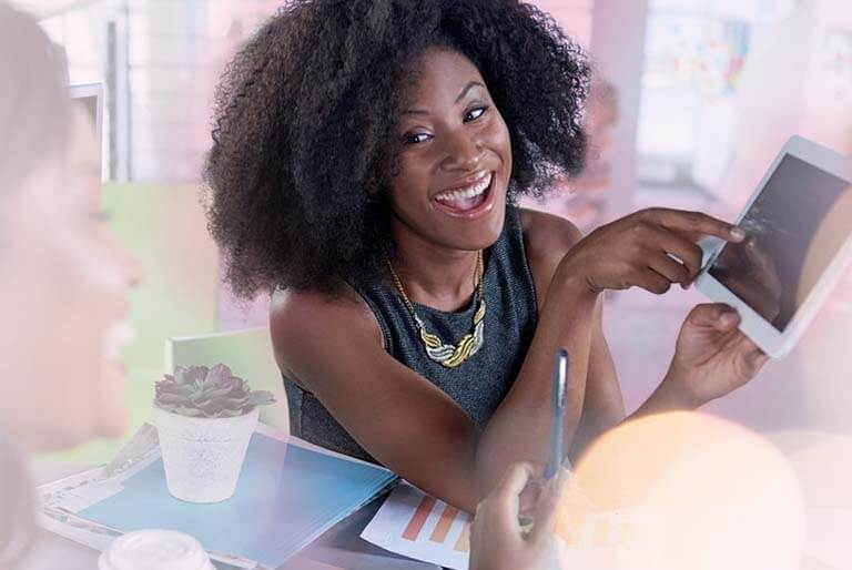 Black Business Woman Planning