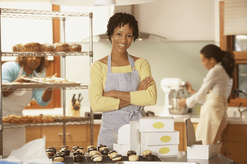 Black women in retail